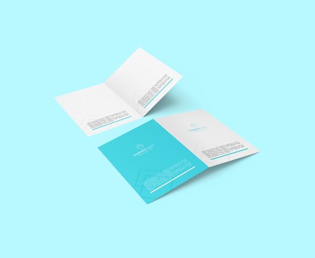 Psd de maquete de brochura bi-fold