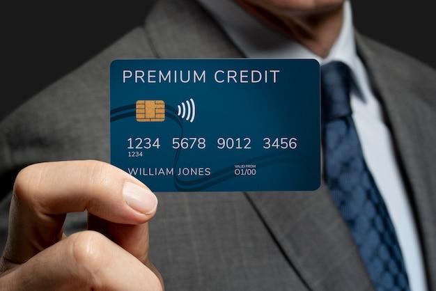 Psd de maquete de cartão de crédito premium
