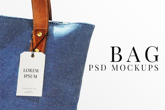 Psd de maquete de etiqueta de roupas mínimas para marcas de moda