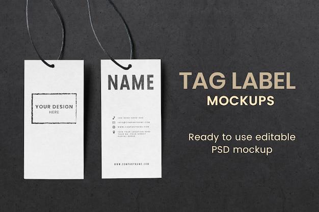 Psd de maquete de etiqueta de roupas para marcas de moda