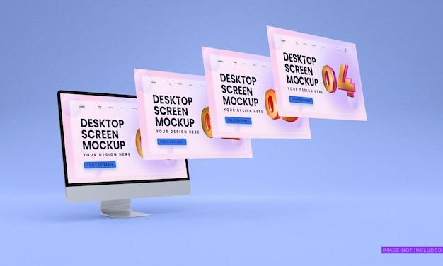 Psd de mockup de telas de desktop