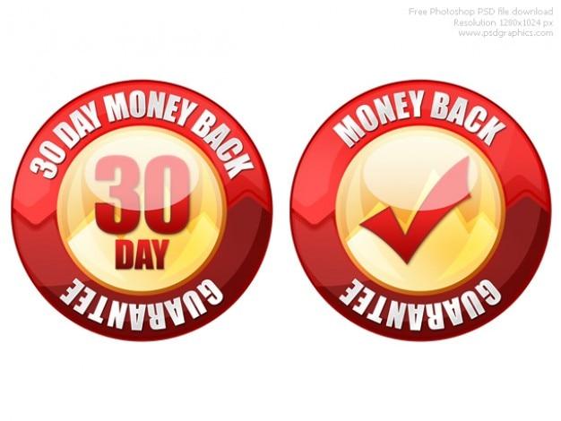 Psd dinheiro de 30 dias de volta garantia de vedação