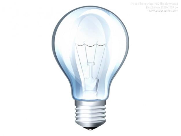 Psd ícone da lâmpada