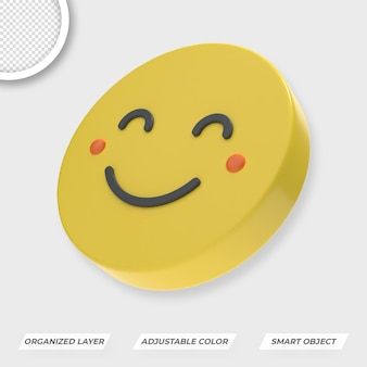 Psd premium de composição de emojis do dia mundial do sorriso