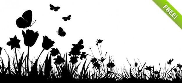 Psd primavera silhouettes mega pack