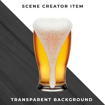 Psd transparente de cerveja