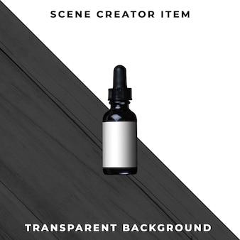Psd transparente de cosméticos