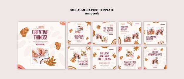 Publicação de artesanato nas redes sociais
