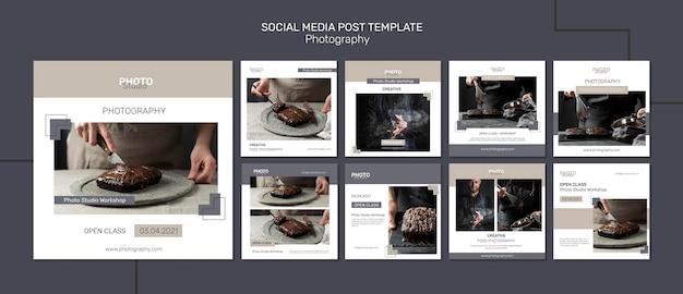 Publicação de fotografia nas redes sociais
