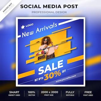 Publicação de mídia social criativa