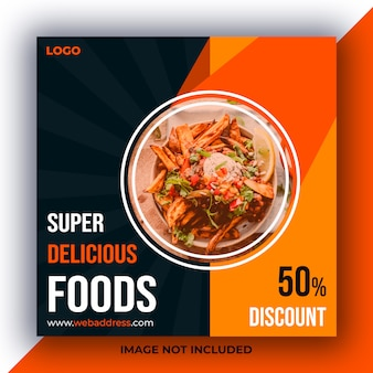 Publicação de mídia social de alimentos