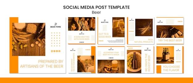 Publicação de mídia social de cerveja