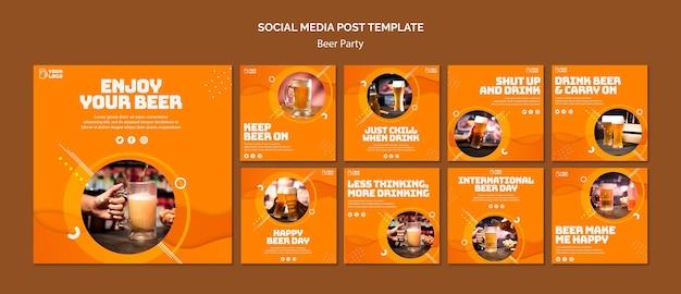 Publicação na mídia social da festa da cerveja