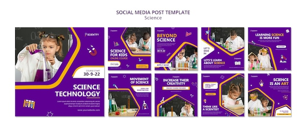 Publicações nas redes sociais da ciência