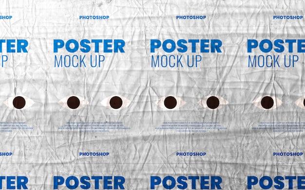 Publicidade de impressão de cartaz de colagem na maquete de parede