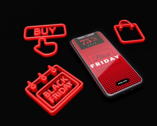 Publicidade de marketing para sexta-feira negra