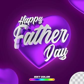 Publique feliz dia dos pais com um coração