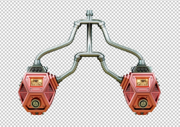 Pulmão humano artificial robótico. conceito futurista de transplante de órgãos