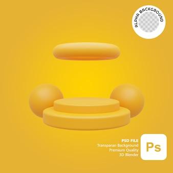 Púlpito ilustrado em 3d com cor amarela completa