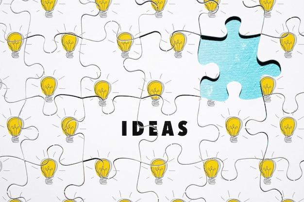 Puzzles de lâmpada incompleta plana leigos