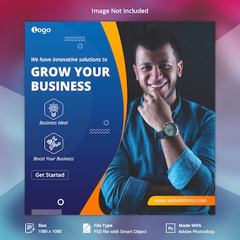 Quadrado corporativo do instagram banner template