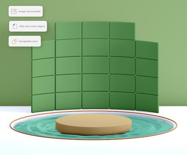 Quadrado do pódio em torno da colocação do produto