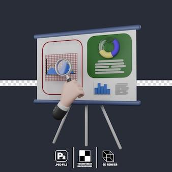 Quadro de apresentação e gráfico