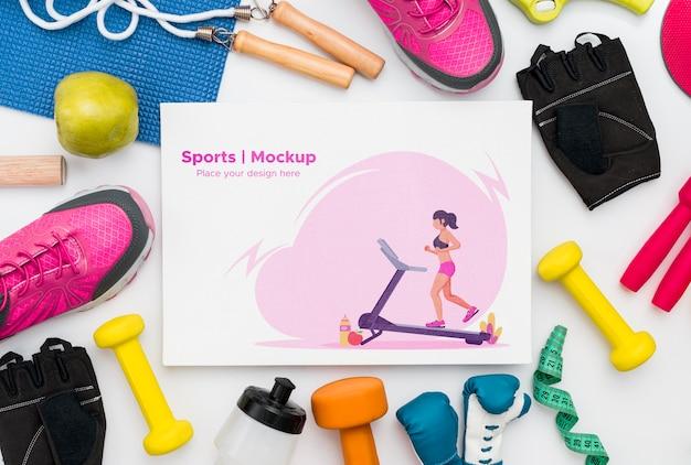 Quadro de ferramentas de esporte