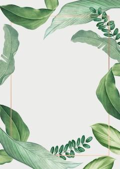 Quadro de folhas tropicais
