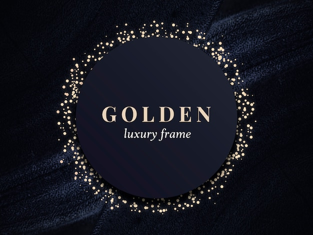 Quadro de luxo ouro