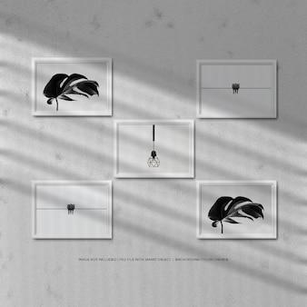 Quadro de maquete de foto com sombra