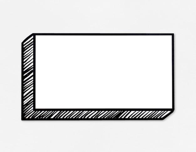 Quadro de mensagens retangular branco em branco