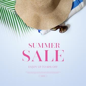 Quadro de venda de verão & fundo