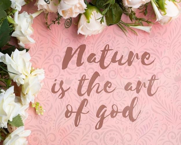 Quadro floral colorido com mensagem inspiradora