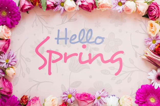 Quadro floral com mensagem para a primavera