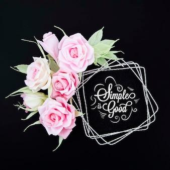 Quadro floral ornamental com mensagem motivacional