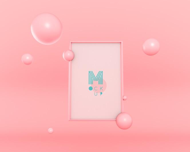 Quadro flutuante de bolhas 3d