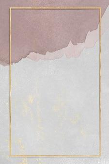 Quadro retangular dourado na ilustração de fundo de textura