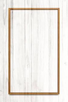 Quadro retângulo em fundo de textura de madeira clara