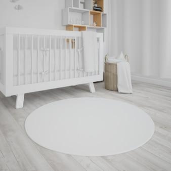 Quarto de bebê com berço branco