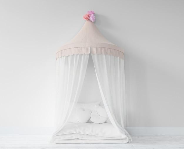 Quarto de criança com cama de princesa