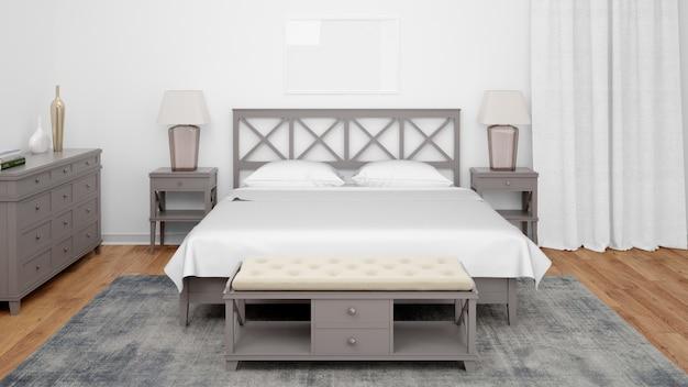 Quarto ou quarto de hotel com estilo clássico e móveis elegantes