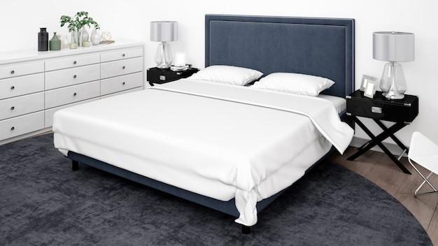 Quarto ou quarto de hotel elegante com móveis clássicos