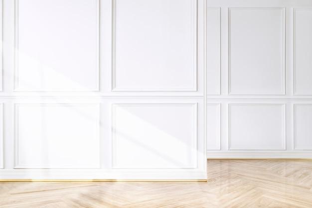 Quarto vazio com parede de luxo psd interior