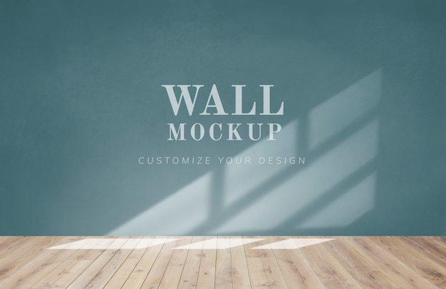 Quarto vazio com uma maquete de parede verde