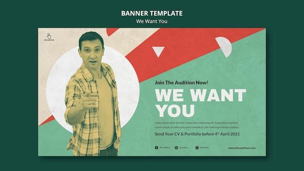 Queremos seu modelo de banner