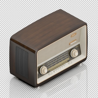 Rádio vintage isométrico