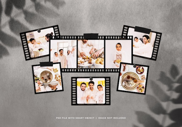 Ramadan photo frames moodboard mockup