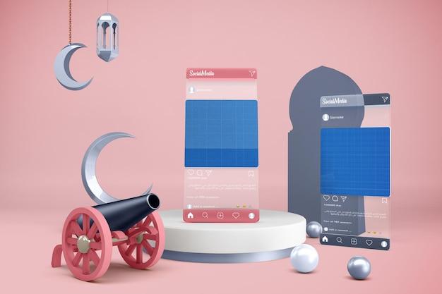 Ramadan social media mockup