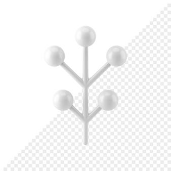 Ramo de abeto abstrato de natal 3d render